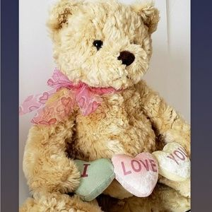 I Love You Gund plush Candy Hearts Bear
